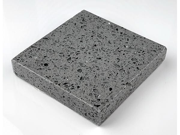 Sparkling Grey Crystal Cristal Gray Color Quartz Stone Slabs