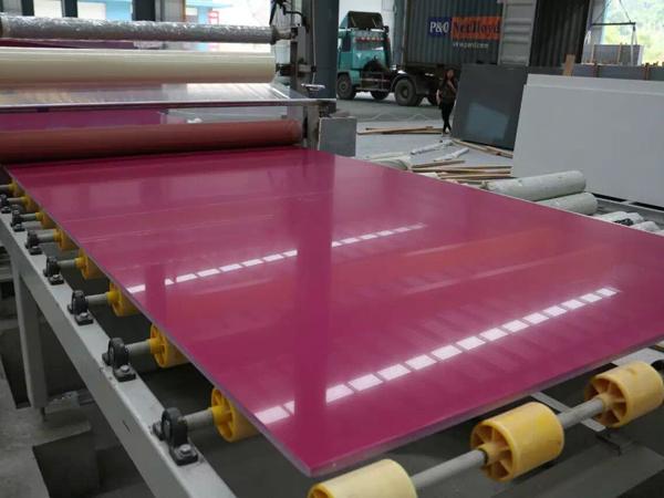Dark Rosy Pure Purple Quartz Man Made Stone Slabs