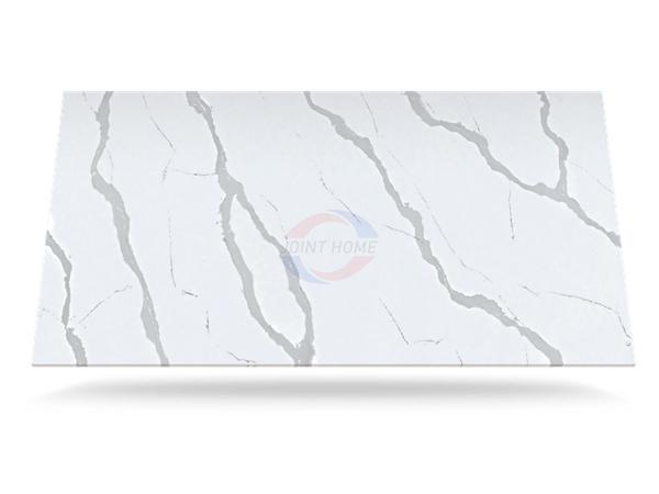 Bianco Calacatta Eternal Quartz Stone Slab For Countertops Silestone 1