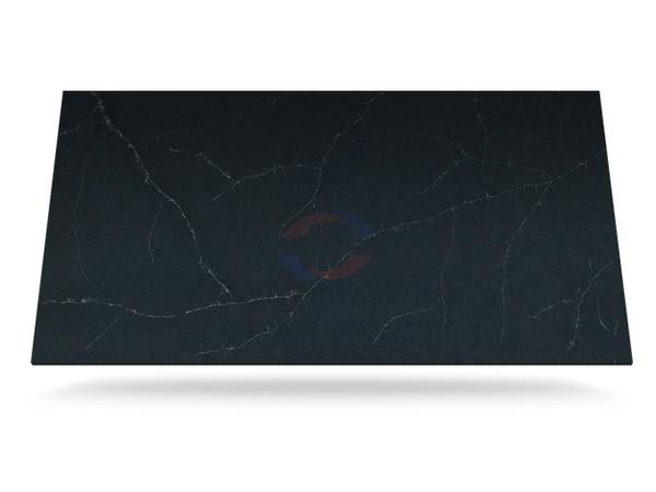 China Charcoal Soapstone Eternal Quartz Stone Slab For Countertops Silestone