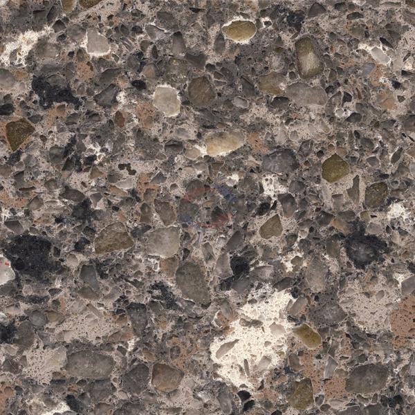 China Mountain Mist Quartz Stone Slab For Countertops Silestone 2